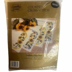 Vtg Something Special Cross Stitch Kit Place Mat